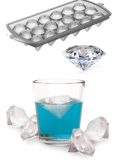 Practika Diamond Ice Mold - Elmas Şeklinde Buz Kalıbı 18'li  Renkli